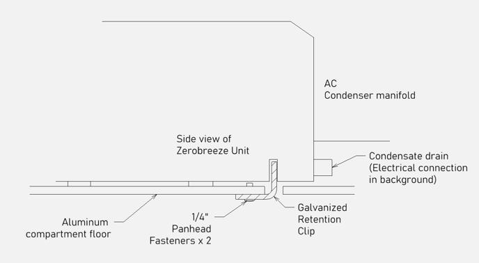 Retention clip - zerobreeze r1